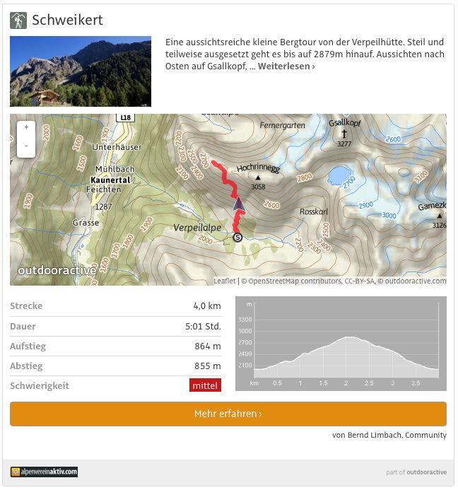 Schweikert auf Alpenvereinaktiv.com