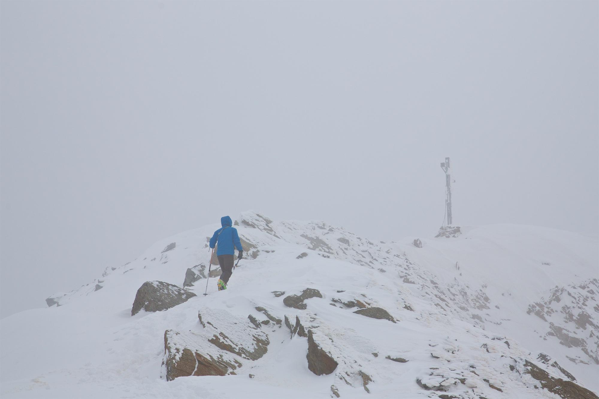 Nur noch wenige Meter bis zum Gipfel